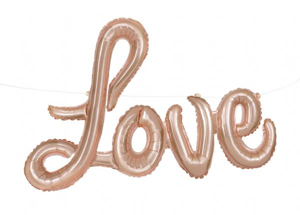 Love Balloon Banner with Ribbon